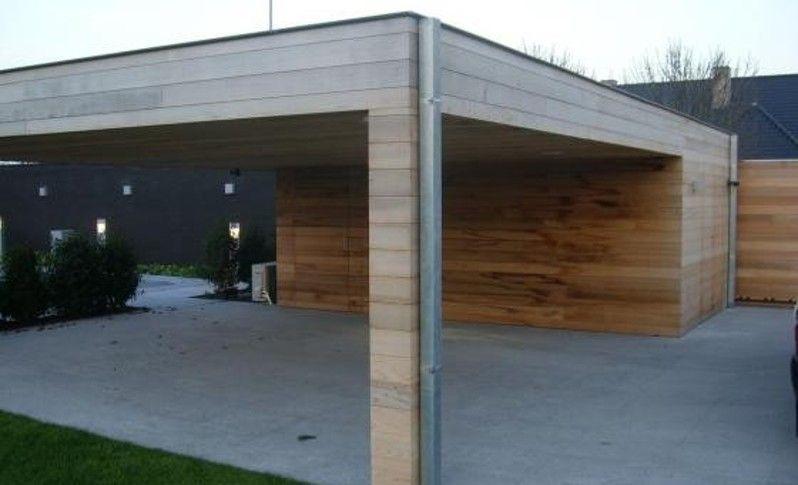 Realisatie Carport hout | Tuinaanleg en tuinonderhoud Waregem